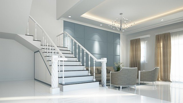 white interior with stairs (2)